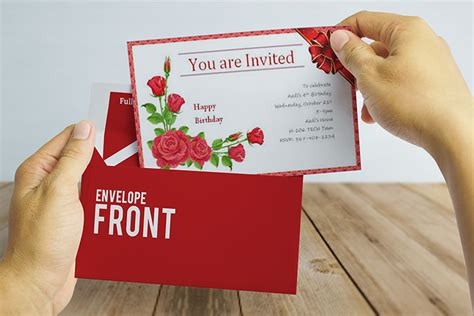 Free Download Invitation Card Mockup in PSD Designhooks