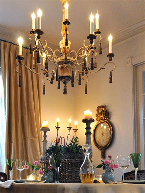 candle chandelier dining room