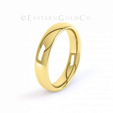 22ct gold court shaped wedding ring eastern gold