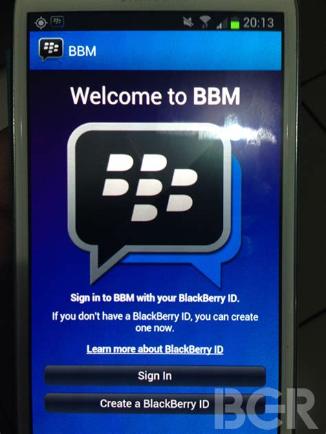 messenger for android blackberry messenger exclusively pictured for android
