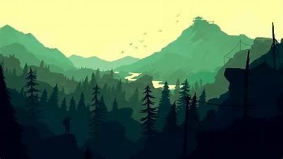 Landscape Firewatch Games Wallpapers Mountain Cartoon Illustration
