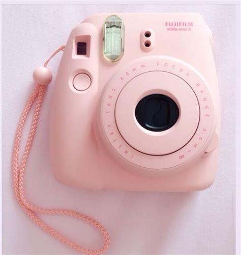 cute baby pink polaroid camera necessities coisas