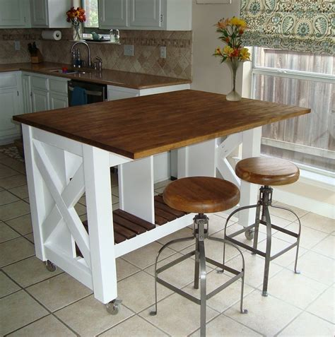 ana white rustic  kitchen island  diy projects