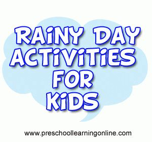 rainy day activities preschool learning 932 | rainy day activities for kids