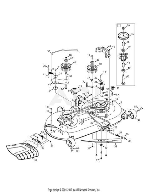mtd axs  parts diagram  mower deck
