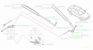 1998 Subaru Impreza Rod-windshield Wiper A  Windshilde  Electrical - 86527fa040