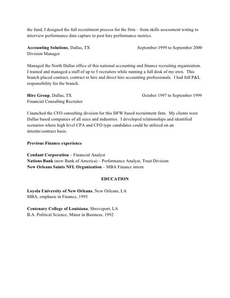 recruiter resume sles hrrecruiter free resume sles