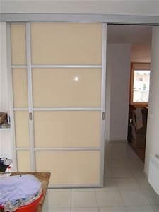 Cloison Séparation Pièce : separation piece porte coulissante porte coulissante ~ Premium-room.com Idées de Décoration