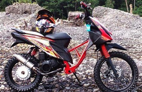 Modifikasi Mio Soul Jadi Motor Trail by Modifikasi Mio Jadi Trail Modifikasi Motor Kawasaki
