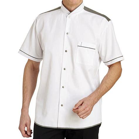 chemise de cuisine veste de cuisine manches courtes style chemise tendance