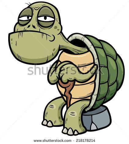 Vector illustration of Cartoon Old turtle - stock vector