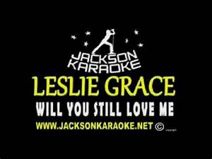 Leslie Grace Will you still love me tomorrow Karaoke - YouTube
