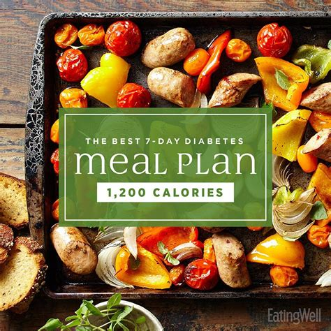day diabetes meal plan eatingwell