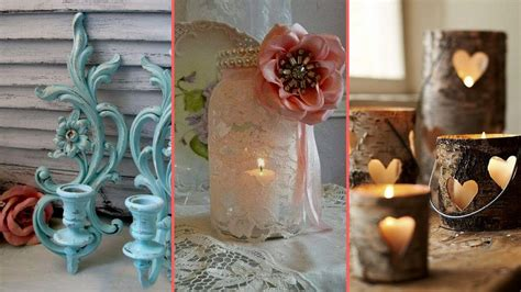 diy rustic shabby chic style candle holder decor ideas