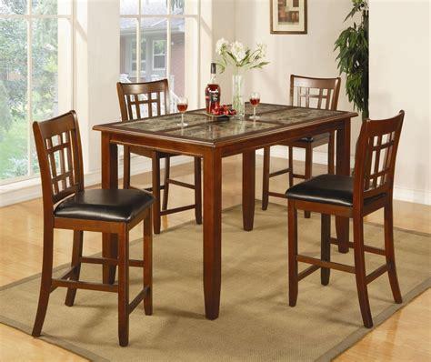 cherry wood pub table set jonesboro rich cherry wood and marble pub table set