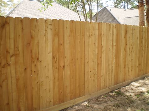 wood fence styles wood fences kingwood fence co inc