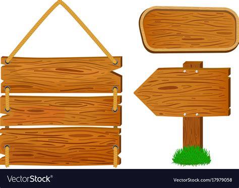 cartoon wooden sign  banners rustic wooden vector image