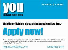 Law Online White & Case Hong Kong 2017 Internship and