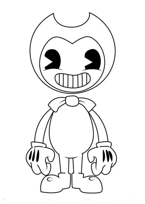 bendy coloring pages coloring pages pinterest