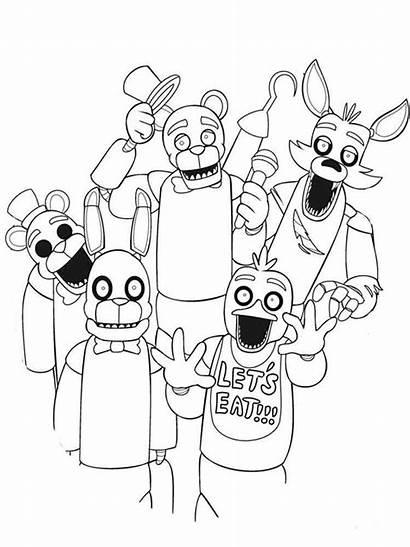 Coloring Pages Animatronics Coloringtop Cartoon Raskraski Pop