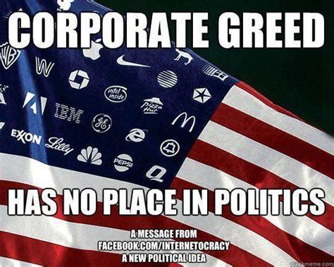 corporate greed quotes quotesgram