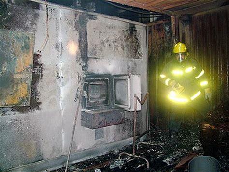 suspicion crematorium intentionally set  fire