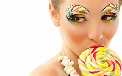 Candy Lollipop Licking Makeup Themed Anime Wallpapers