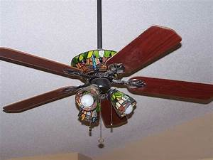 Tiffany like ceiling fan fans