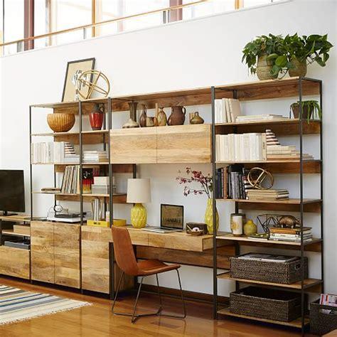 Office Desk With Bookshelf by Industrial Modular 33 Quot Bookshelf West Elm