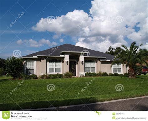 story florida stucco home stock  image