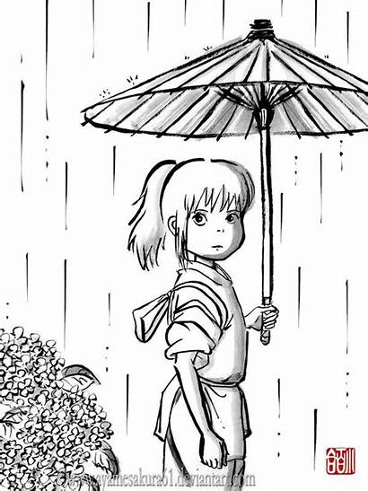 Spirited Away Chihiro Coloring Ghibli Studio Pages