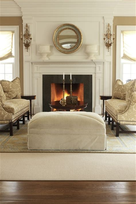Rugs in Living Room with Fireplace