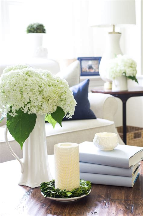 You can always replace your books, add or take away some magazines, change the coasters or the tray, fill your vase with fresh flowers, adding boxes, etc … you get the idea. Simple Round Coffee Table Styling Ideas | On Sutton Place