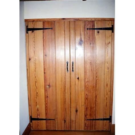 Black Cupboard Doors by Cupboard Doors Pitch Pine Showing Black Iron T Hinges And