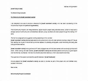 10 letter of recommendation for student pdf doc free With reference letter template for volunteer