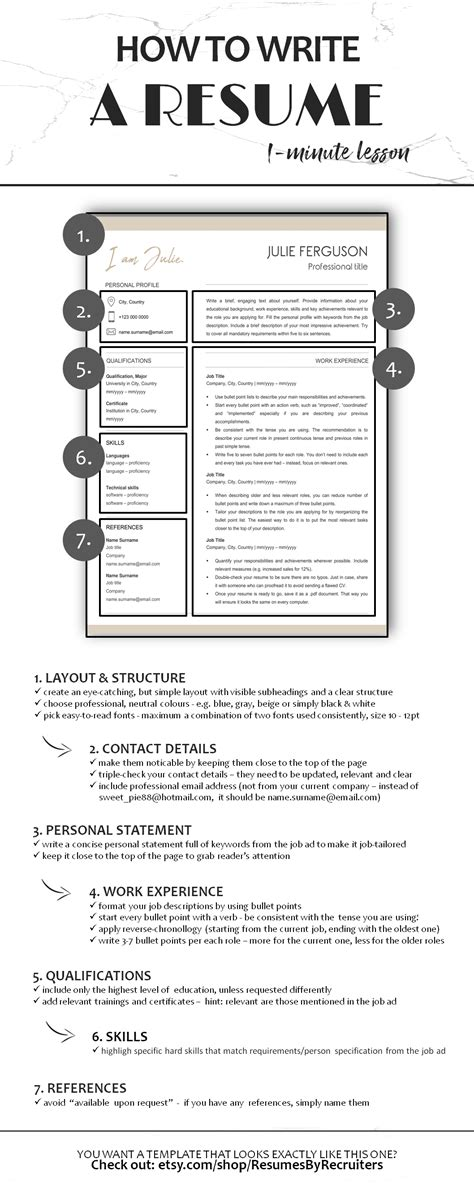 Step By Step Resume Template by Creative Resume Template Word Instant Social