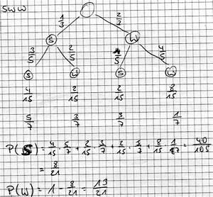 Wahrscheinlichkeit Berechnen : wahrscheinlichkeitsrechnung 1 schwarze und 2 wei e kugeln 1 kugel farbe notieren und mit in ~ Themetempest.com Abrechnung