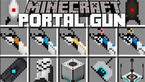 Minecraft PORTAL GUN MOD / PLAY WITH PORTALS AND FIND THE ...
