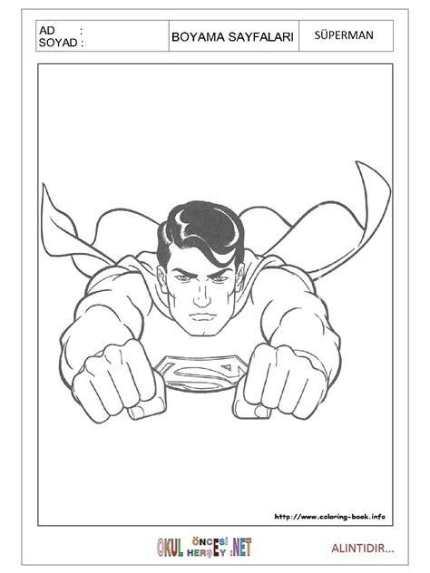 Superman Boyama Sayfası Resimlere Göre Ara Red