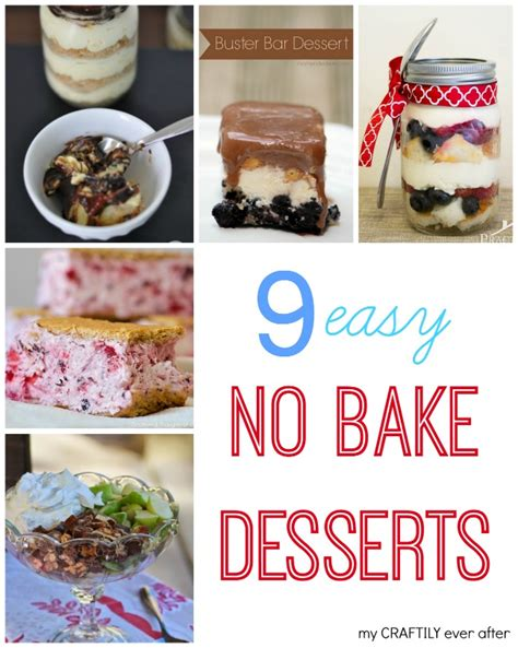 9 easy no bake desserts my craftily after
