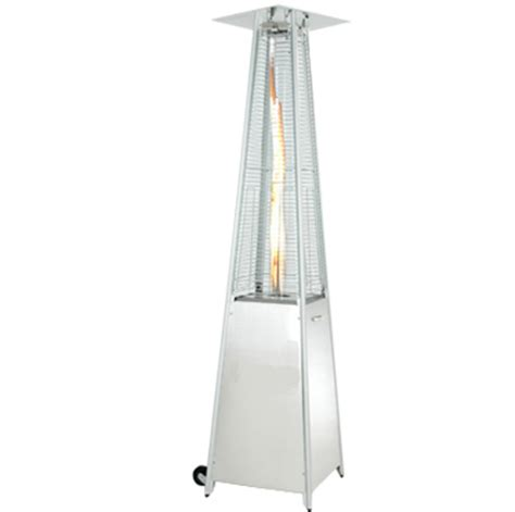 Pyramid Patio Heater Glass by Alva Designer Pyramid Heater Livingstones Garden