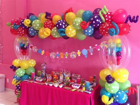 candyland candy table candy land theme pinterest