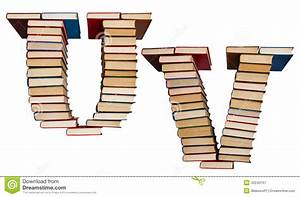 alphabet made out of books letters u and v stock photo With letters made out of pictures