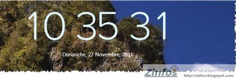 horloge pour bureau windows 7 une horloge et plus pour votre bureau zinfosweb