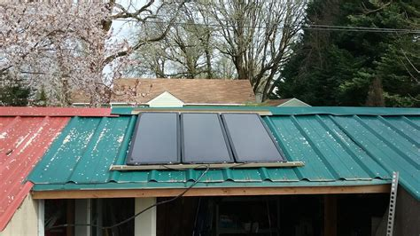 Solar Panel Kit For Shed by Harbor Freight Solar Panel Mounted On Shed Roof Running