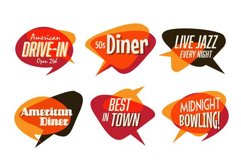 cuisine 馥s 50 50s diner jazz and fast food pack free vector stock graphics images