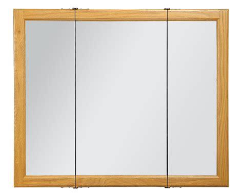 3 door medicine cabinets with mirrors design house 545285 claremont honey oak tri view medicine