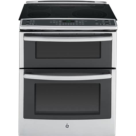 shop ge profile smooth surface 5 element self cleaning slide in convection electric range