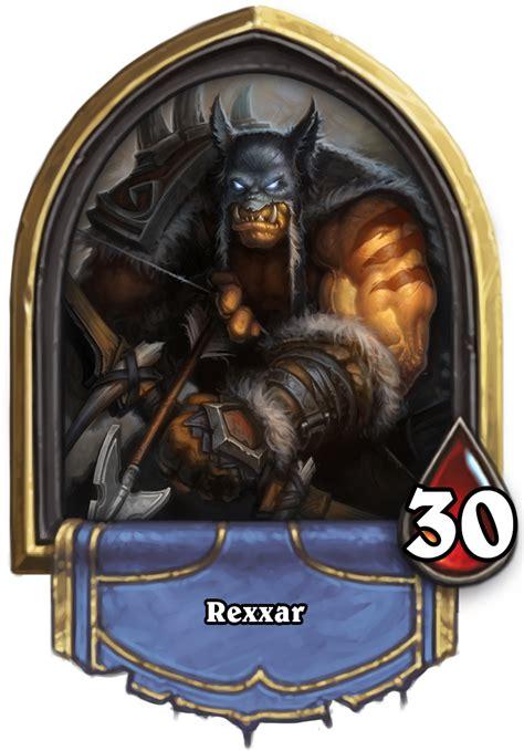 rexxar hearthstone heroes  warcraft wiki fandom powered  wikia