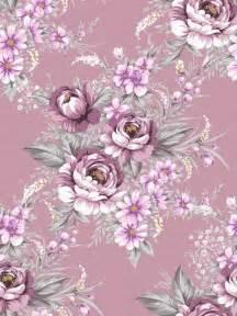 Purple Vintage Rose Floral Pattern